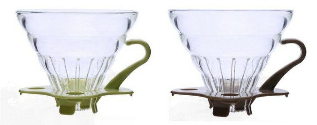 手工耐熱玻璃咖啡濾杯2-4人份【單入】錐形濾杯 錐型濾杯 另有Tiamo HARIO 濾紙 玻璃咖啡壺 咖啡豆罐 磨豆機