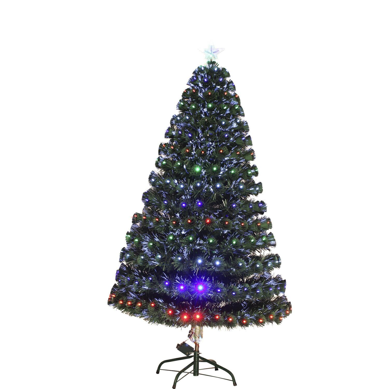 HomCom 4' Artificial Holiday Decoration Light Up Christmas Tree - Green 2