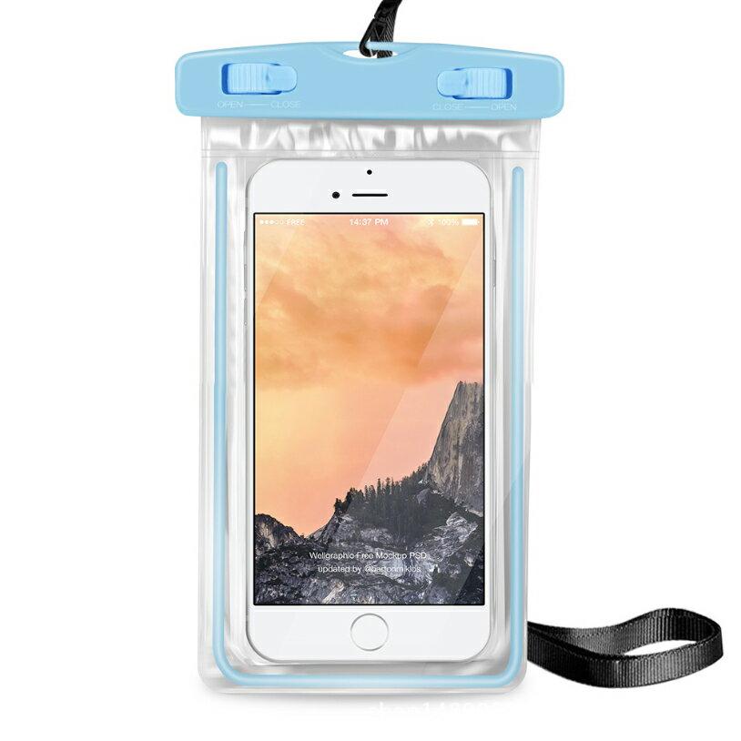 PS Mall 夜光款手機 螢光防水袋 觸摸透明PVC潛水套【J312】 5