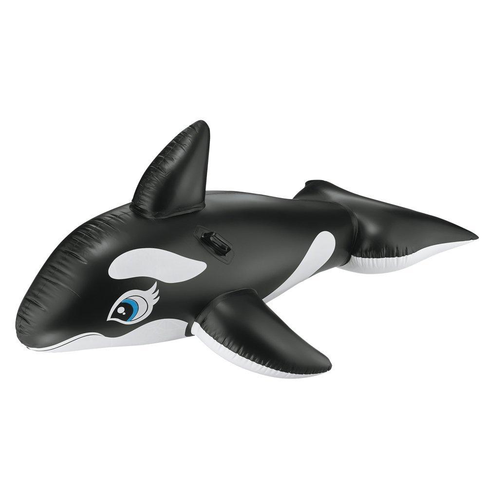 歐美 海豚造型水上充氣騎乘玩具泳圈
