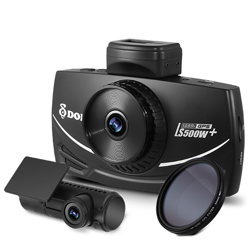 【DOD】LS500W+ 高畫質GPS行車紀錄器 (雙鏡頭1080p / SONY感光 / 測速提示) 1
