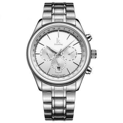 美琪 (簡約時尚)全自動機械錶帶日曆夜光多功能腕錶