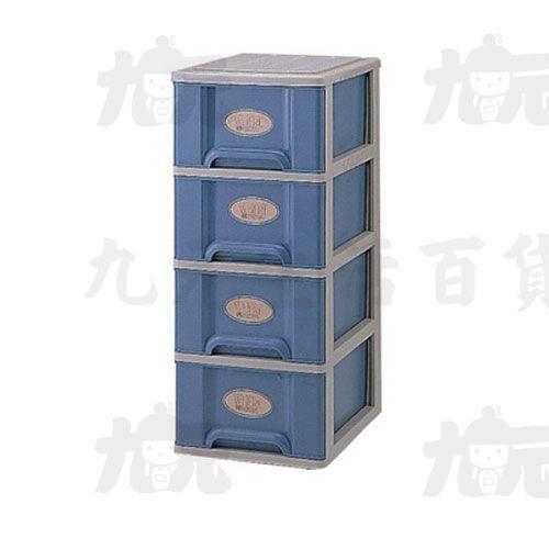 【九元生活百貨】聯府T40置物櫃(四層附輪)置物櫃收納櫃