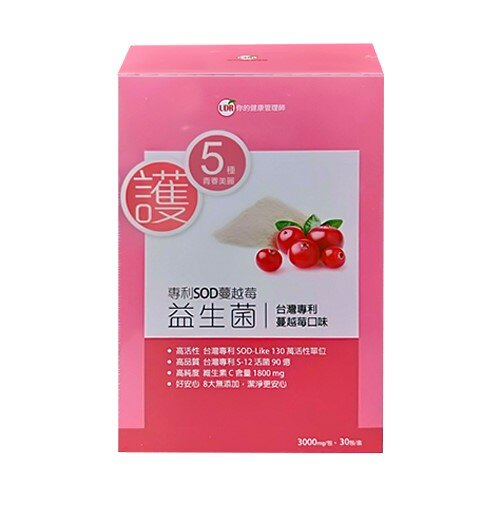 UDR 專利SOD蔓越莓益生菌EX(30包/盒)私蜜膠原【小資屋】