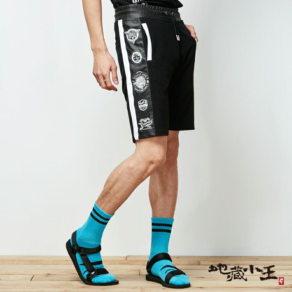 【春夏新品】地藏雙色拼接街頭棉短褲 - BLUE WAY 地藏小王 1