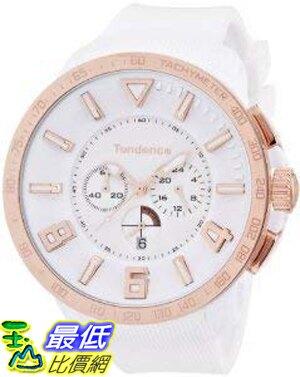 [8東京直購] TOKYO-ZW Tendence Gulliver Sport Unisex Quartz Watch with White Dial Analogue Display and White Plastic or PU Strap TT560002 手錶