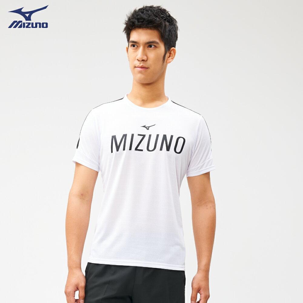 Slim FIT 男款健身短袖T恤 K2TA050201(白)【美津濃MIZUNO】