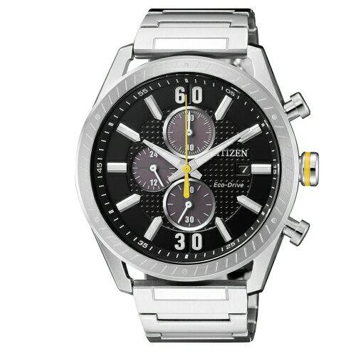 方采鐘錶:CITIZEN星辰競速賽車計時碼錶CA0666-82E