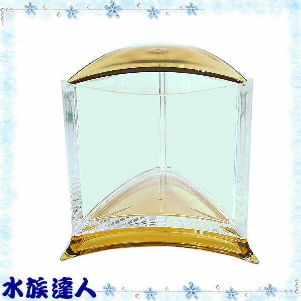 【水族達人】伊士達ISTA《摩登造型鬥魚盒(高透明壓克力).黃色》小魚缸/鬥魚箱/鬥魚缸/鬥魚杯