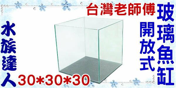 【水族達人】【水族箱魚缸】台灣老師傅《開放式玻璃魚缸˙1尺---30*30*30》