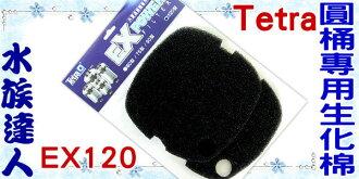 【水族達人】德彩Tetra《EX POWER 120圓桶專用生化棉EX120 2入 TF022》過濾順暢.水質更乾淨!