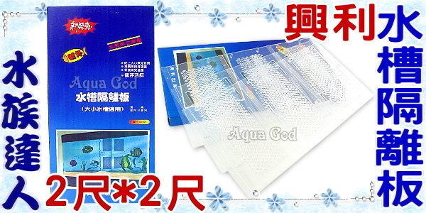 【水族達人】興利《水槽隔離板.2*2尺(寬*高)》隔離網 大小標準魚缸適用 超方便!