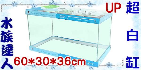 【水族達人】雅柏UP《ULTRA WHITE 超白缸(大).60*30*36cm》 平面魚缸/魚缸/超白玻璃