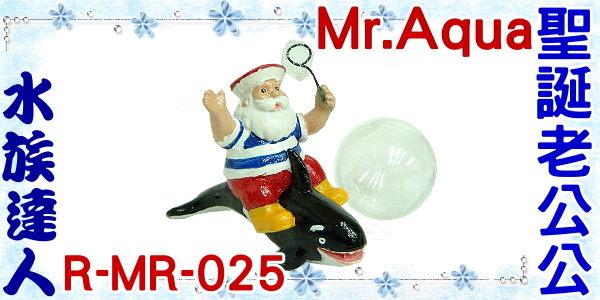 【水族達人】【造景裝飾】水族先生Mr.Aqua《漂浮聖誕老公公.R-MR-025》魚缸飾品/聖誕老人