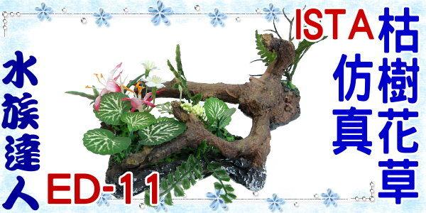 ~水族 ~伊士達ISTA~仿真枯樹花草 ED~11~ED11 造景裝飾 水草 枯木 木頭