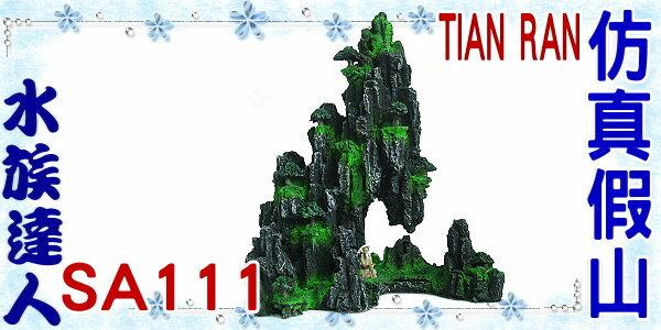 【水族達人】【裝飾品】TIAN RAN《仿真假山 SA111》假山/石山/岩山/漁翁/小樹