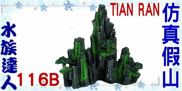 【水族達人】【裝飾品】TIAN RAN《仿真假山 116B》假山/石山/岩山/樹木