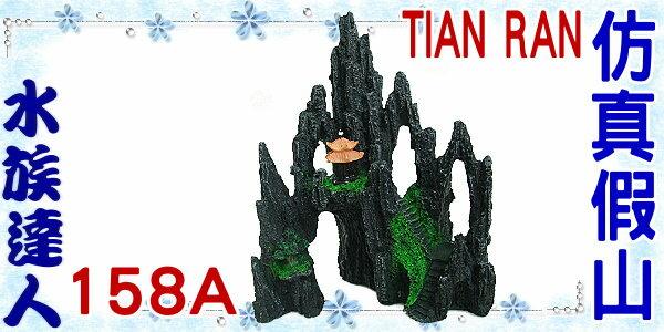 【水族達人】【裝飾品】TIAN RAN《仿真假山 158A》假山/石山/岩山/小亭