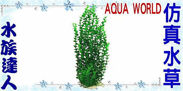~水族 ~~造景裝飾~水世界AQUA WORLD~精緻仿真水草.大.044352~假水草