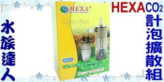 【水族達人】海薩 HEXA《2合1.二氧化碳CO2計泡擴散組》種水草良器!