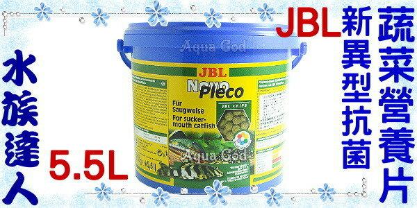 【水族達人】JBL《Novo Pleco新異形抗菌蔬菜營養片.5.5L》健康、營養、美味!