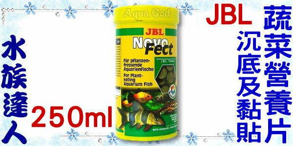 【水族達人】JBL《Novo Fect沉底及黏貼蔬菜營養片.250ml》健康、營養、美味!