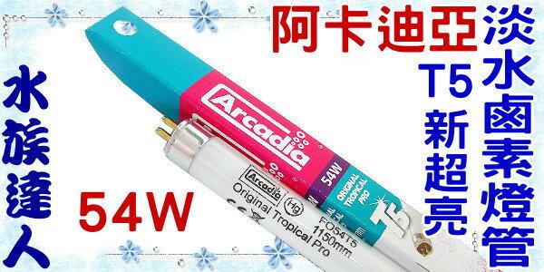 ~水族 ~~T5燈管~阿卡迪亞Arcadia~T5新超亮淡水鹵素燈管.54W~超明亮!