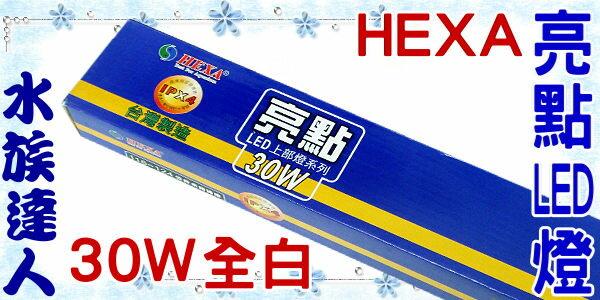 【水族達人】海薩 HEXA《S-1200亮點LED上部燈30W(3W*10)4尺/全白》跨燈 116~124cm魚缸適用