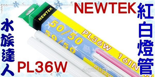 ~水族 ~NEWTEK~紅白燈管.PL36W~超明亮!
