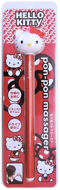 X射線【C009803】Hello Kitty按摩搥(紅),彈力按摩搥/按摩棒/按摩不求人/捶打按摩枕