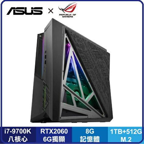 華碩 ASUS ROG Huracan G21CX-0031C97KGXT 9代i7六核獨顯電競主機 i7-9700K/8G/1T+512G/RTX 2060 6G/WIFI/Win10