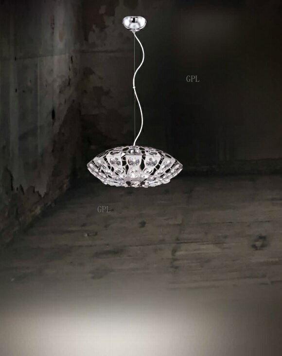 不鏽鋼水晶珠吊燈 E27 * 1