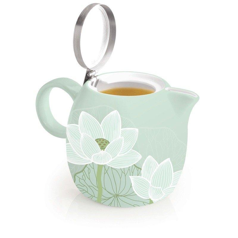 Tea Forte 普格陶瓷茶壺 - 蓮花 Lotus  送 罐裝茶(隨機出貨) 1