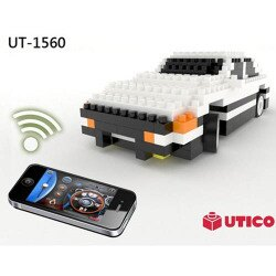 【UTICO微型積木】智慧手機遙控積木車-AE86 1560