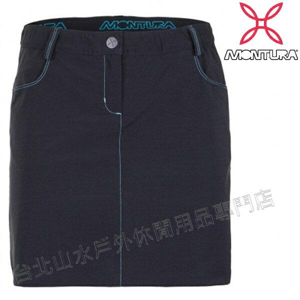 MONTURA軟殼褲裙登山裙stretch防潑彈性軟殼褲裙女款MTPGG00W9023黑藍綠