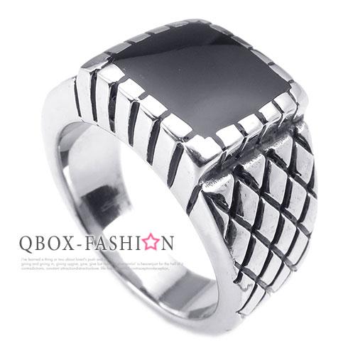 ~ QBOX ~FASHION 飾品~W10025231~精緻 方型切割紋路鑄造316L鈦