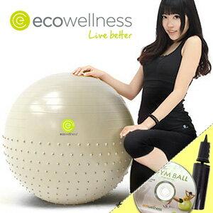 【ecowellness】按摩顆粒防爆26吋韻律球(贈送打氣筒)65cm瑜珈球抗力球彈力球.健身球彼拉提斯球復健球體操球大球操.推薦哪裡買C010-010T26