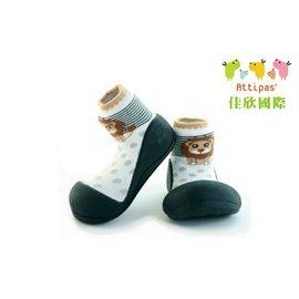 【淘氣寶寶】韓國【Attipas】快樂腳襪型學步鞋-黑底獅子M
