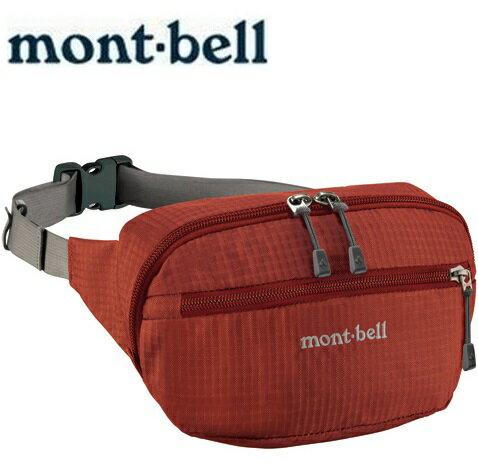 Mont-Bell 休閒腰包/旅行腰包 Delta gusset pouch M 1123764 TERA磚橘