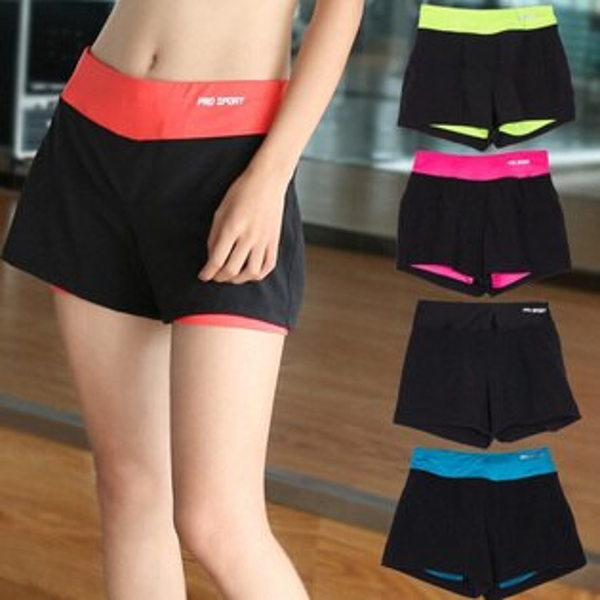 糖衣子輕鬆購【BA0054】跑步健身瑜珈運動短褲速乾顯瘦防走光健身褲