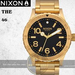 NIXON實體店The 46潮流人士必敗時尚錶款A916-510公司貨/禮物/極限運動