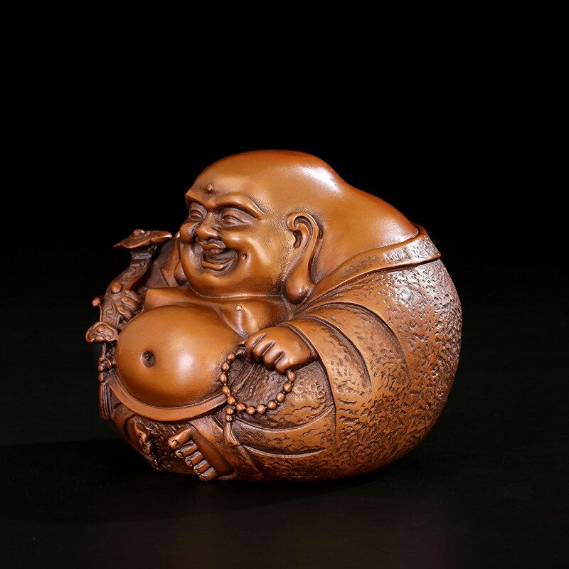 匠澤銅魂  純銅彌勒佛擺件一團和氣佛像家居裝飾銅工藝品風水招財