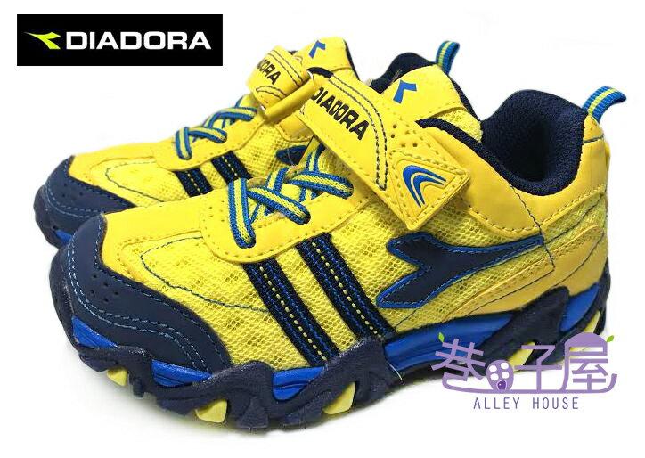 【巷子屋】義大利國寶鞋-DIADORA迪亞多納 男童寬楦戶外越野慢跑鞋 [9793] 黃 超值價$398