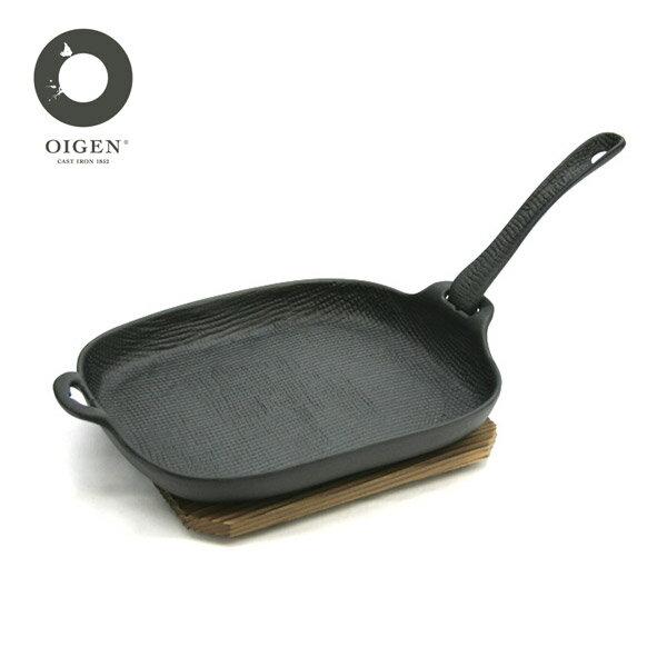 【買就送】日本南部鐵器 OIGEN及源鑄造 盛榮堂麻布紋燒烤盤U-37 贈義大利進口橄欖油 乙罐