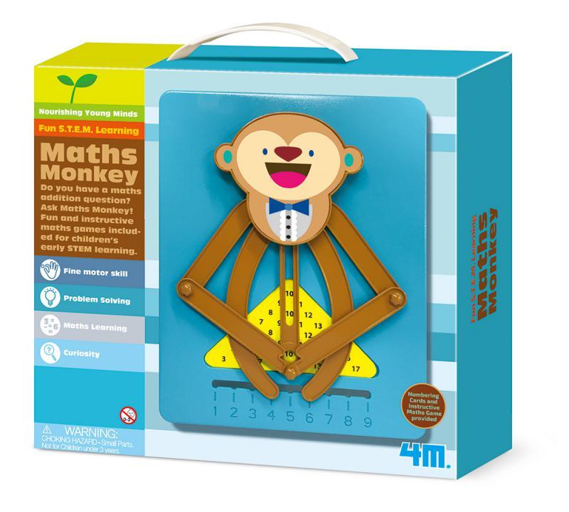 【 4M 美勞創作】猴子數學小老師 Math Monkey