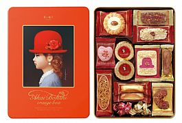 日本進口高帽子喜餅 橘帽12種禮盒(新)222g