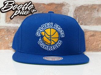 BEETLE NESS NBA WARRIORS 金州勇士 CURRY 藍黃 復古 SNAPBACK 棒球帽 總冠軍 MN-373