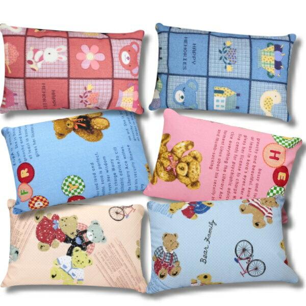 【MIT台灣製造小童枕(枕套+枕心)】多種款式可愛小熊.機器人 雙面印染可拆洗枕頭套 嬰兒枕/兒童枕頭/午睡枕~華隆寢具