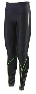 [陽光樂活]MIZUNO 美津濃 男款 BG8000 II 第二代 頂級機能壓縮緊身褲 K2MJ5B0193 黑x綠