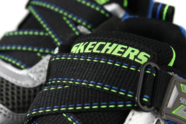 SKECHERS  LIGHTS 運動鞋 電燈鞋 童鞋 灰色 90512LSLBL no982 4
